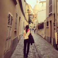 Exploring the narrow streets of Montmartre