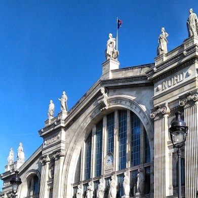 Arriving in Paris at the Gare du Nord